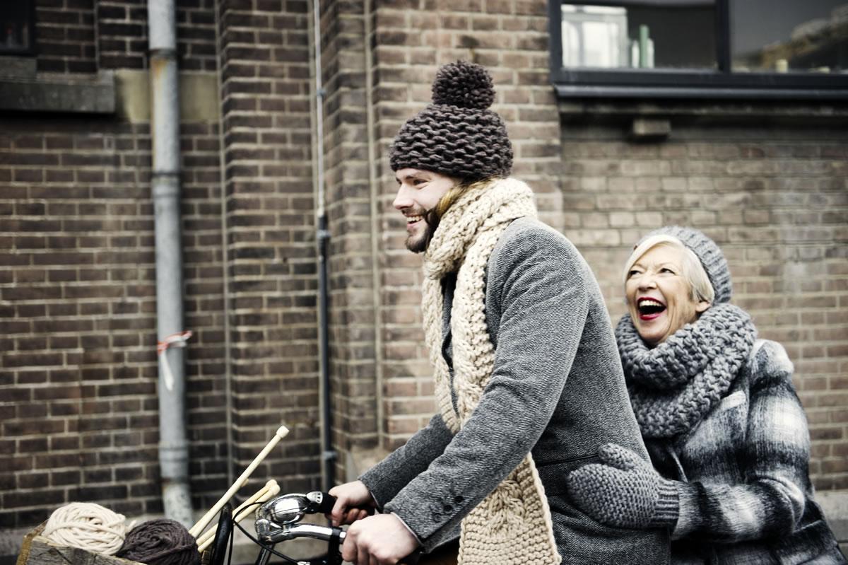 Granny's finest knitwear knitted by elderly