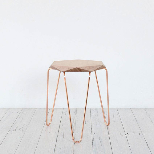 Klein-Gem-Stool-Copper-with-Natural-Top-TUCKBOX