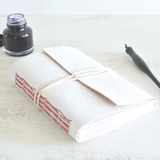 handmade goat leather journal - stunning!