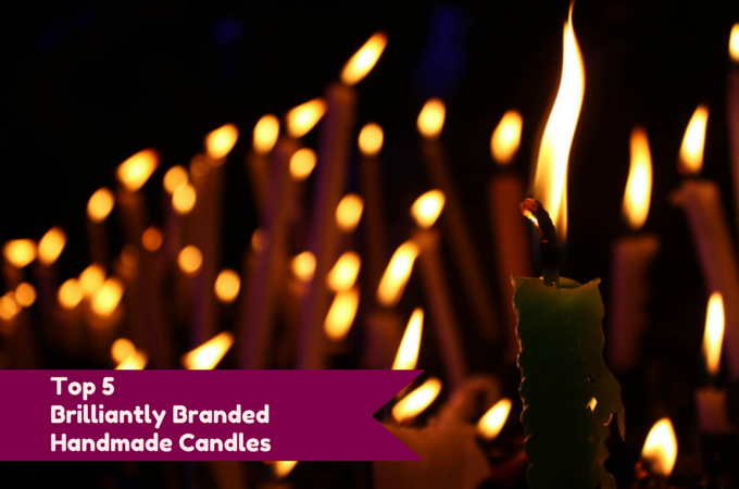top 5 brilliantly branded handmade candles !