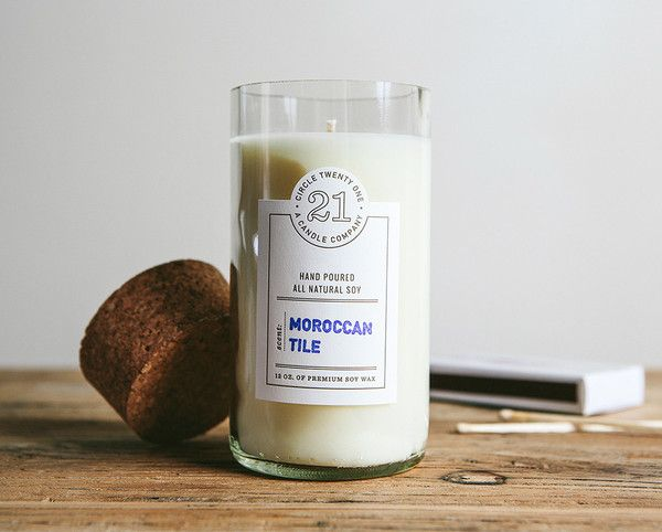 Circle 21 candles - part of top 5 brilliantly branded handmade candles !