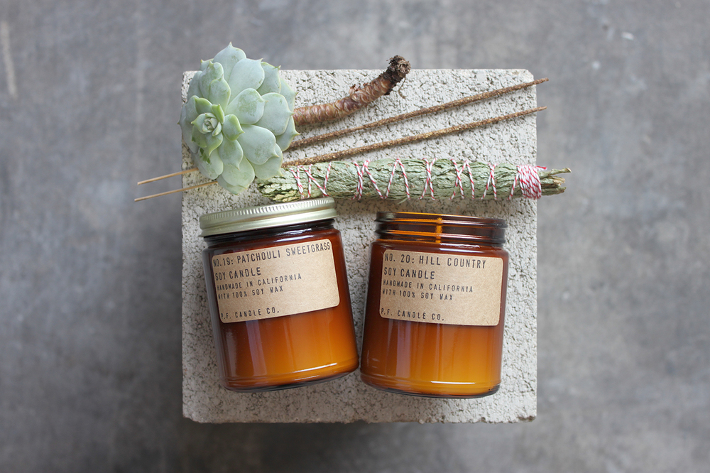 PF Candle Co candles - part of top 5 brilliantly branded handmade candles !