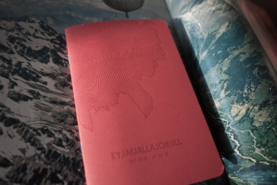Eyjafjallajökull letterpress notebook by Analog