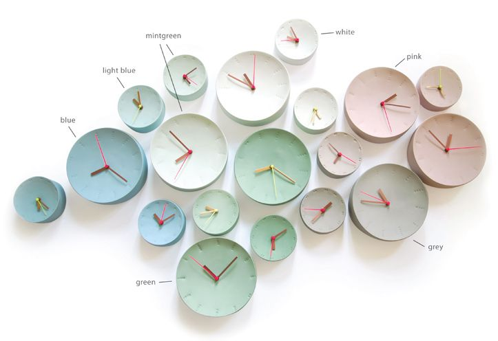 Studio Elke vd Berg - beautiful ceramic mindful clocks! Read the full story at good ideas grow on trees