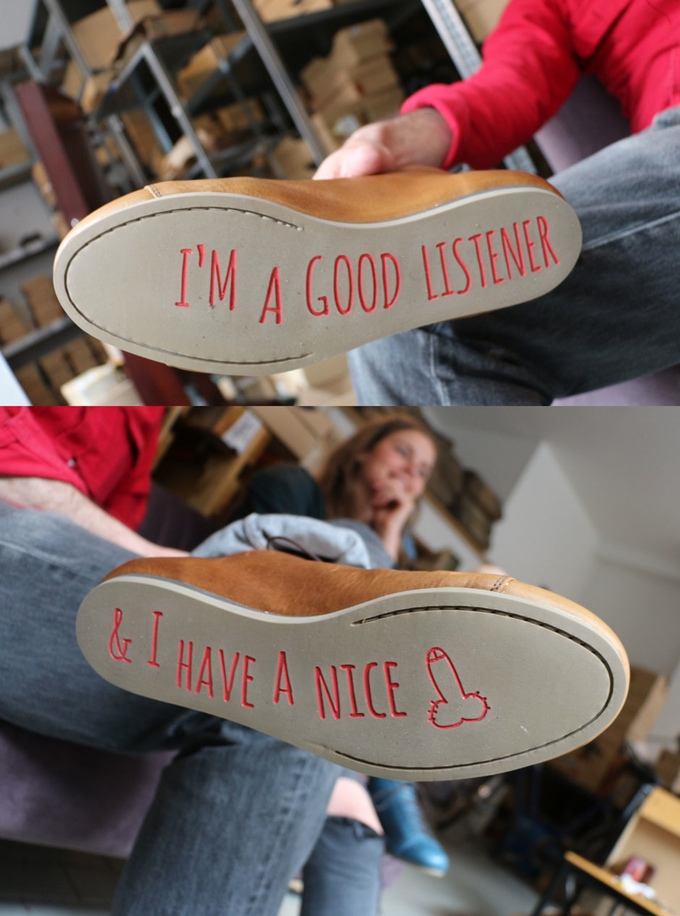 Atheist footwear, click to read the full story
