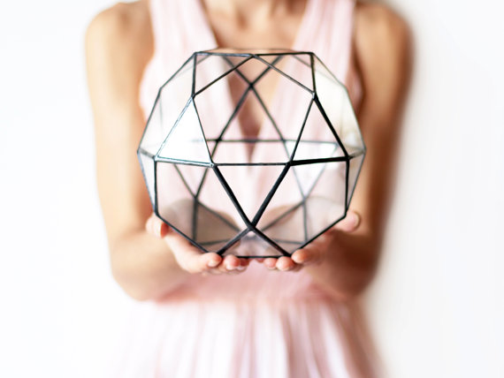 Couple crush: geometric pillows and terrariums