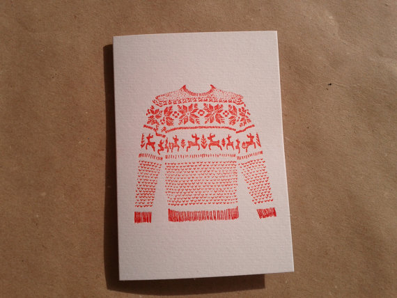 Mark Darcy christmas jumper card