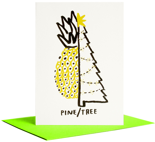 Pine/Tree card  by People I loved - brilliant chrismas card!