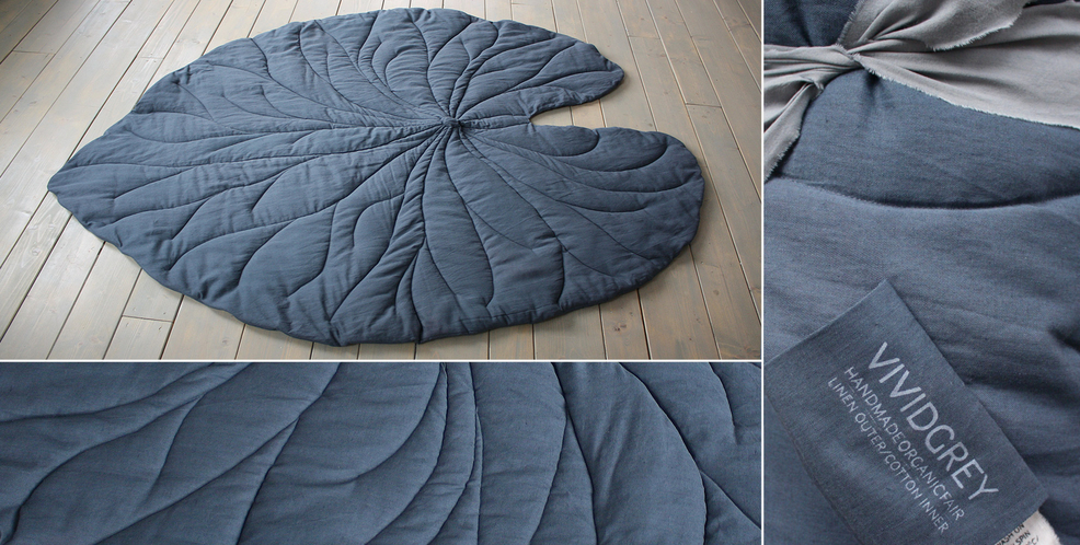 Attractive Leaf Rugs - Vivid Grey - Good ideas grow on trees DS65